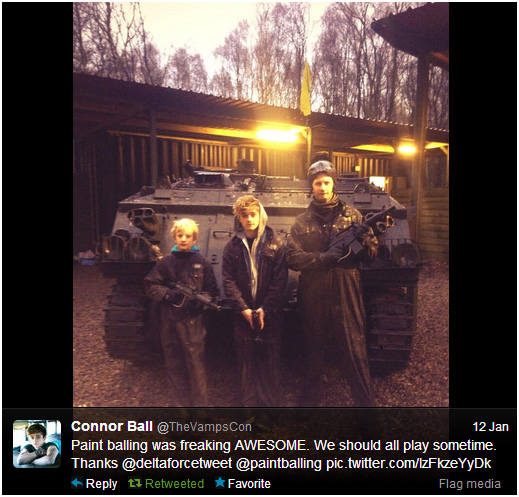 Connor Ball (The Vamps) at Delta Force