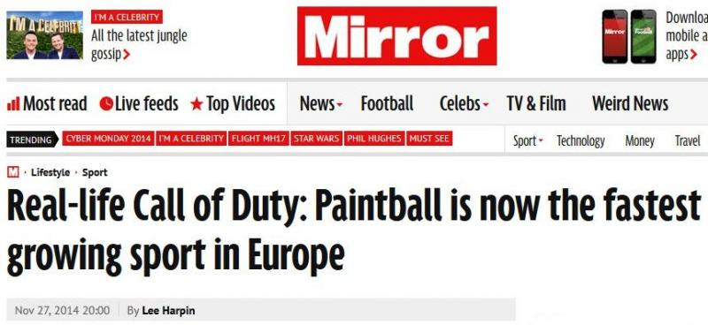 Mirror article on paintball