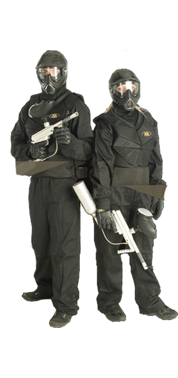 Male And Female Pair In Black Delta Force Kit