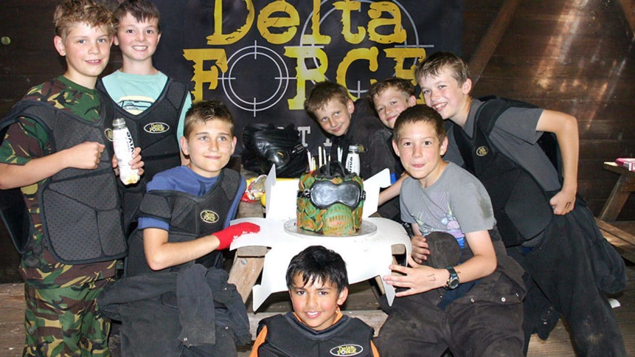 Delta Force Paintball Birthday Group