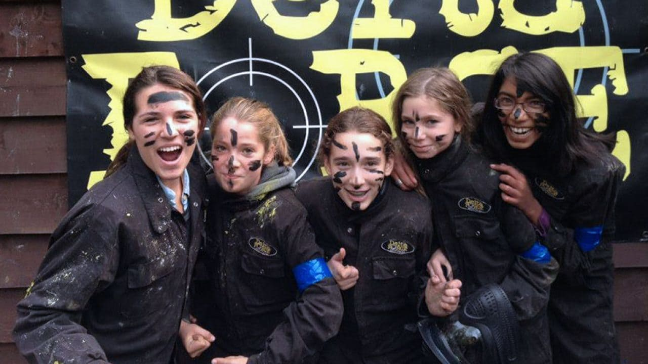 kids paintball group photo
