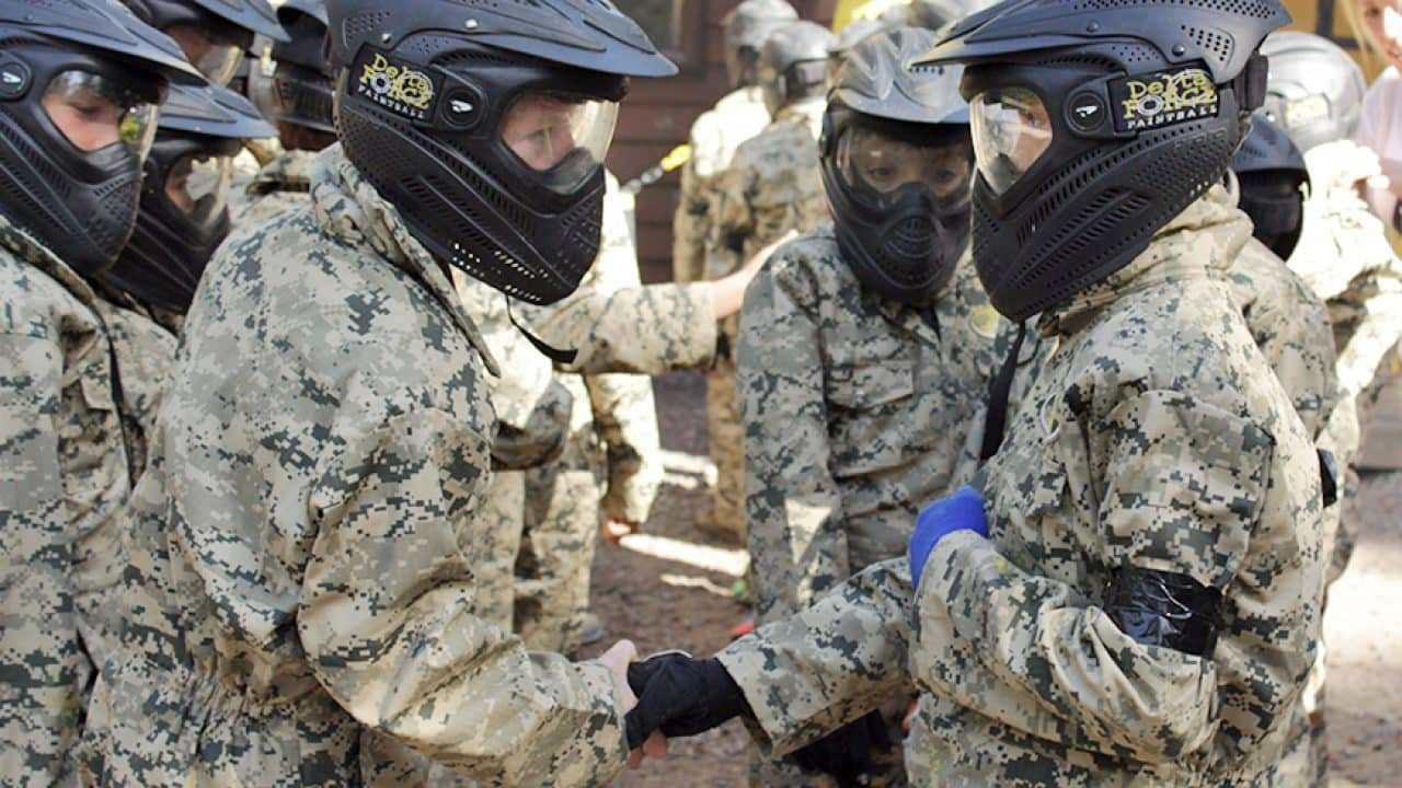 mini players get together at delta force paintball