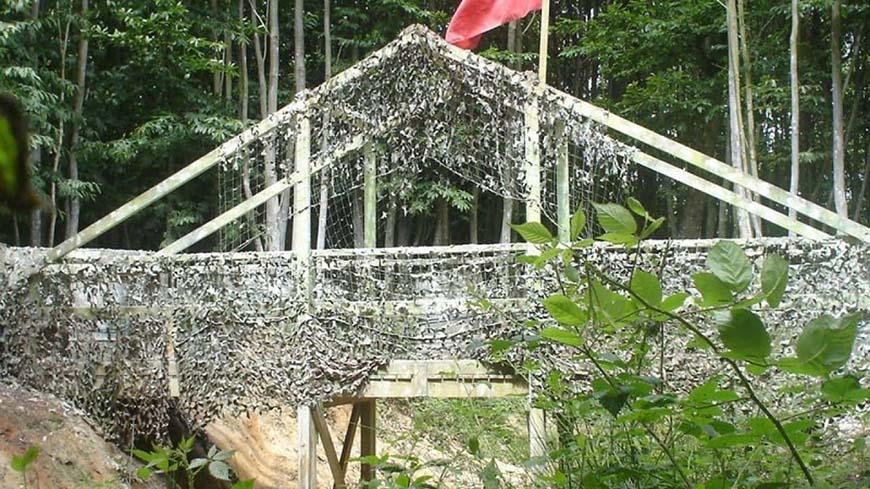 Green Netting On A Bridge Too Far Game Zone