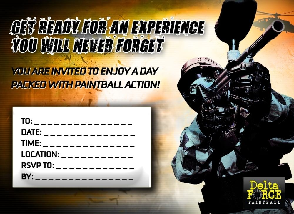 Delta Force Paintball Invitation Form