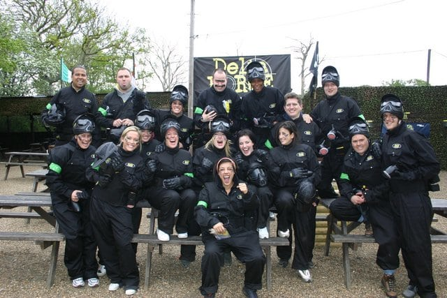 Corporate team-building celebrations at Delta Force Paintball