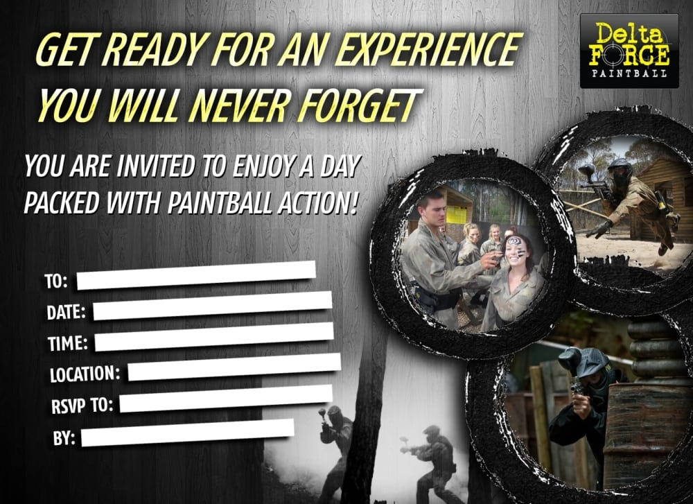 Delta Force Invitation Form With Action Photos