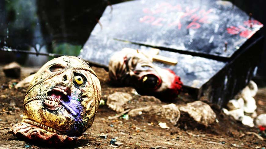 Zombie heads litter the Crypt