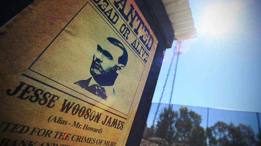 Wanted Poster At Gold Rush Game Zone