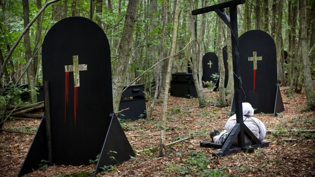 Delta Force Paintball Creepy Haunted Graveyard Game Zone