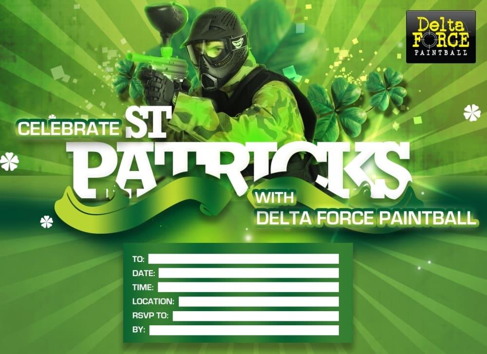 St Patricks Themed Delta Force Invitation Form