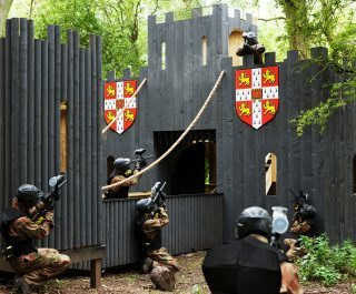 Delta Force Paintball Players Storm Sheriffs Castle