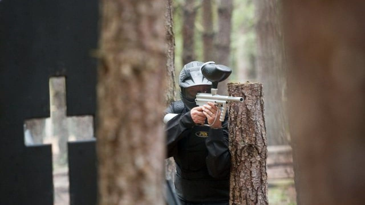 Delta Force Player Hiding Behind Tree Haunted Graveyard
