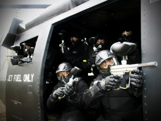 Delta Force Players In Black Hawk Helicopter