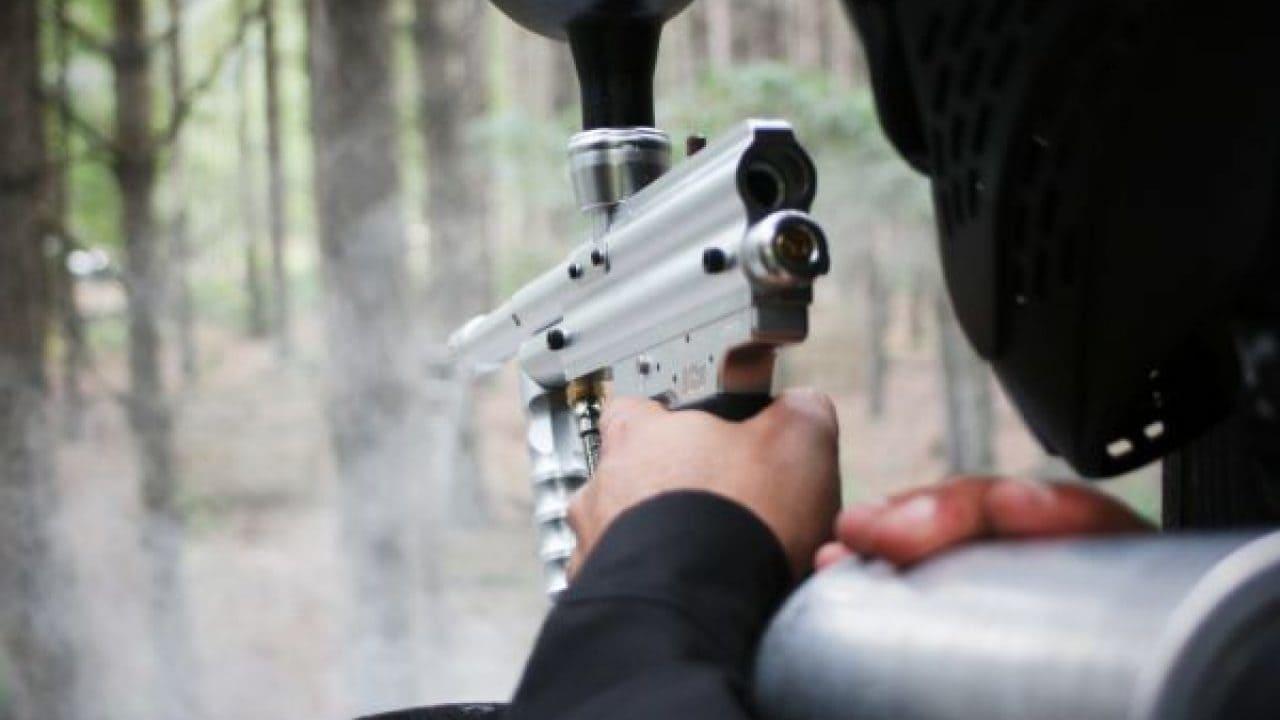 Delta Force Player Holding Paintball Gun Castle Wallenberg