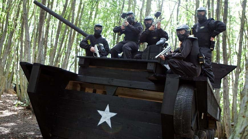 Delta Force Players In Kit Sit On Tank