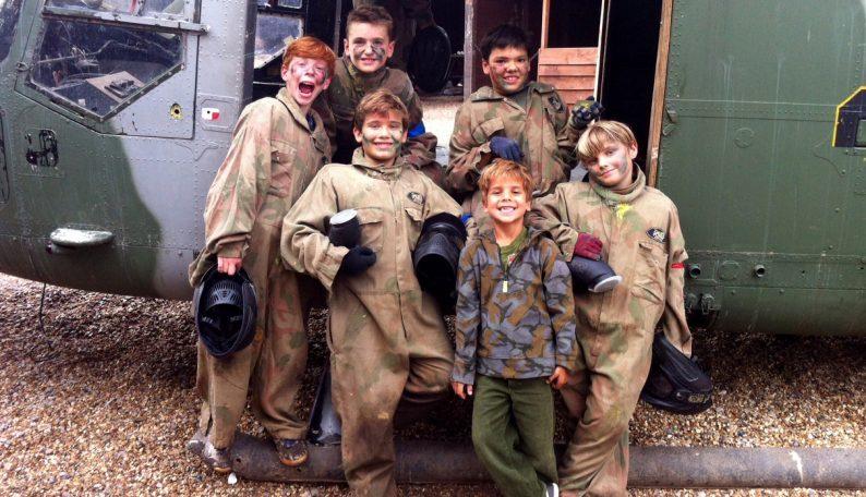 Happy Boys In Delta Force Paintball Uniform