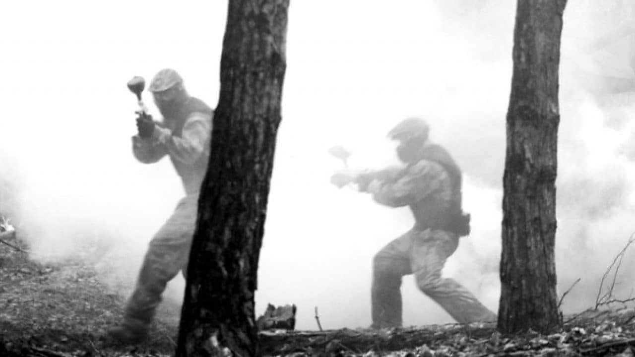 Delta Force Players In Woods Surrounded By Smoke