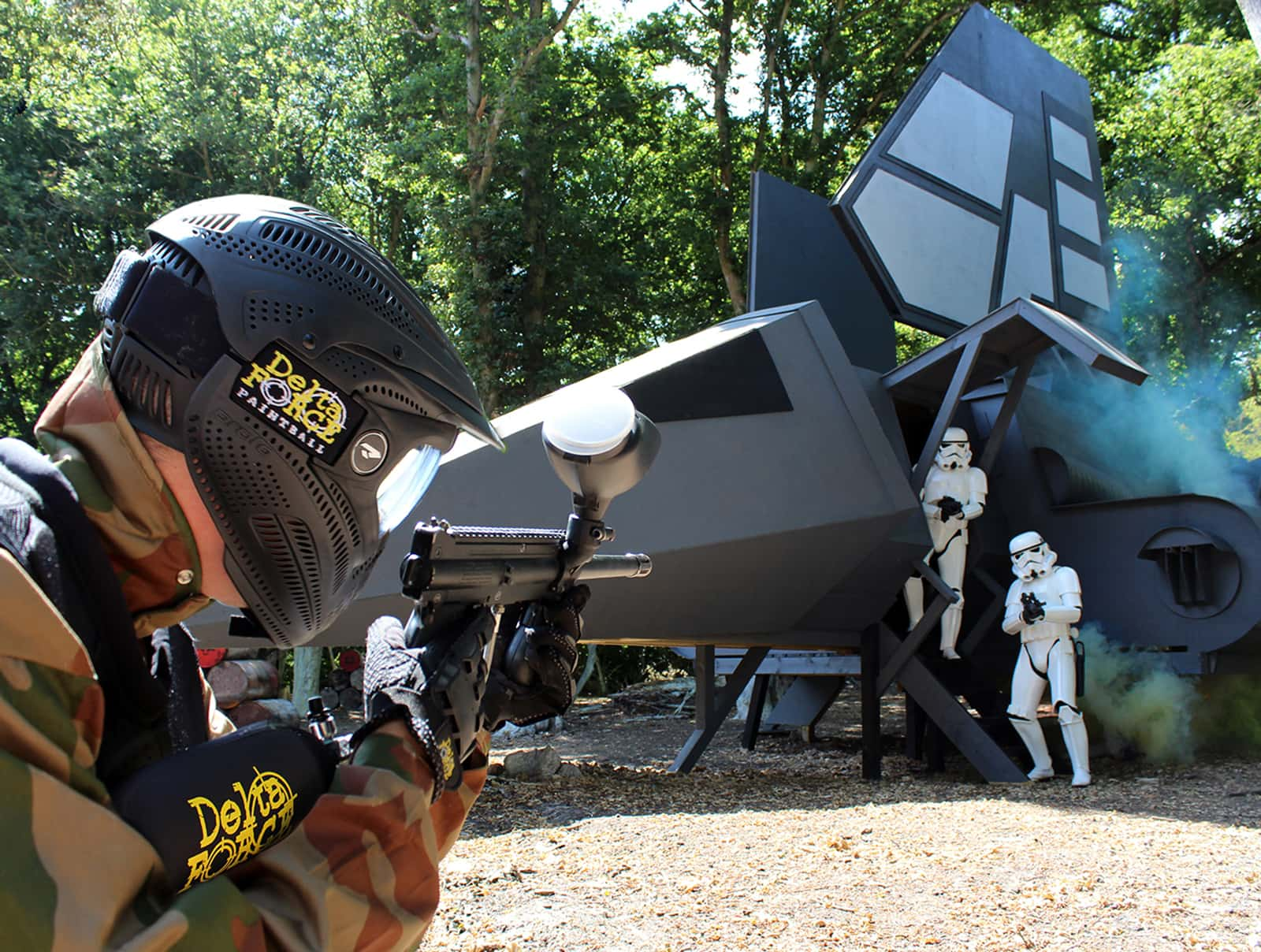 Delta Force Player Face Stormtroopers At Imperial Shuttle