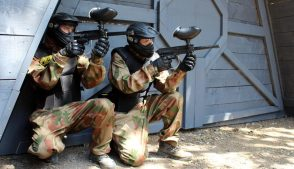 Delta Force Players In Paintball Kit By Space Warz Base
