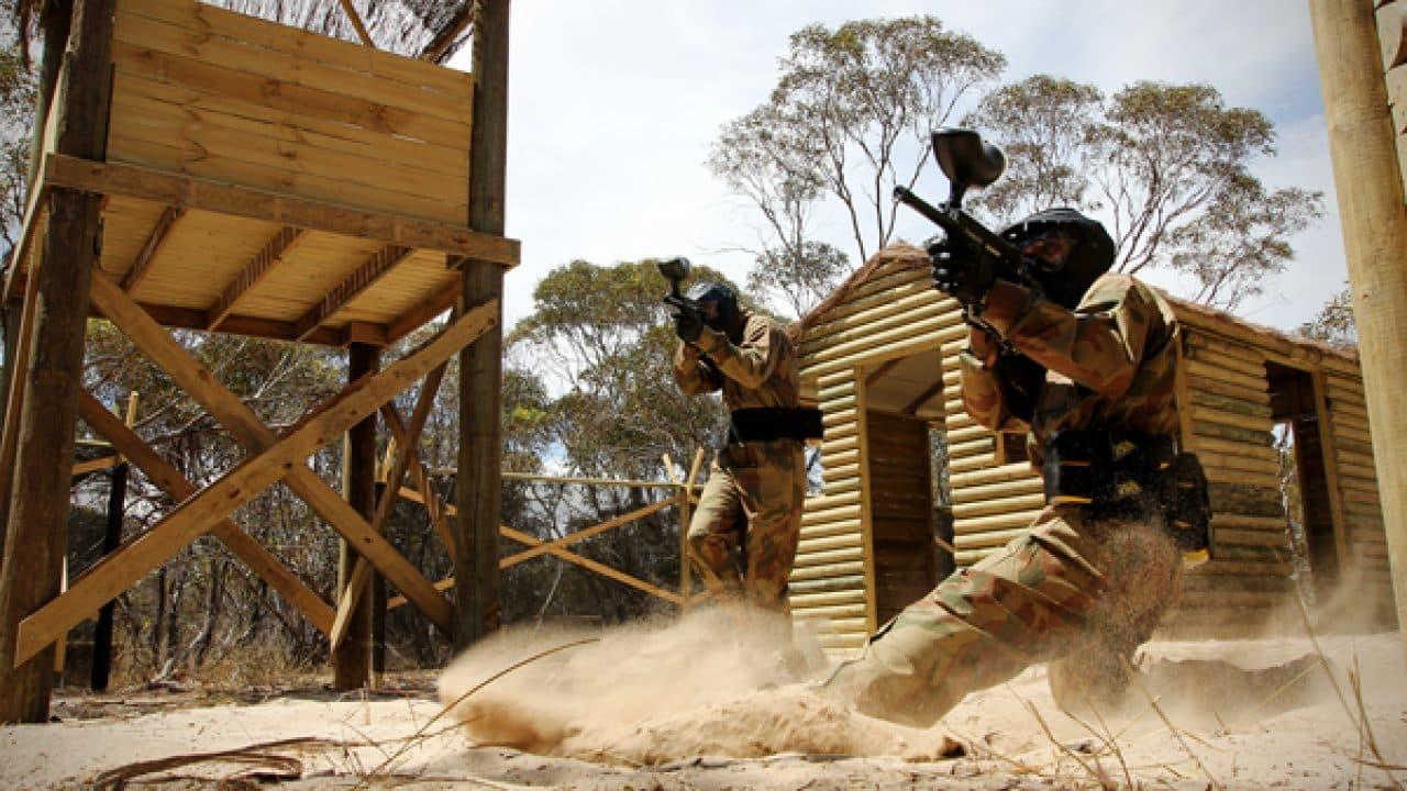 Delta Force Player Slides In Sand At Vietcong Village