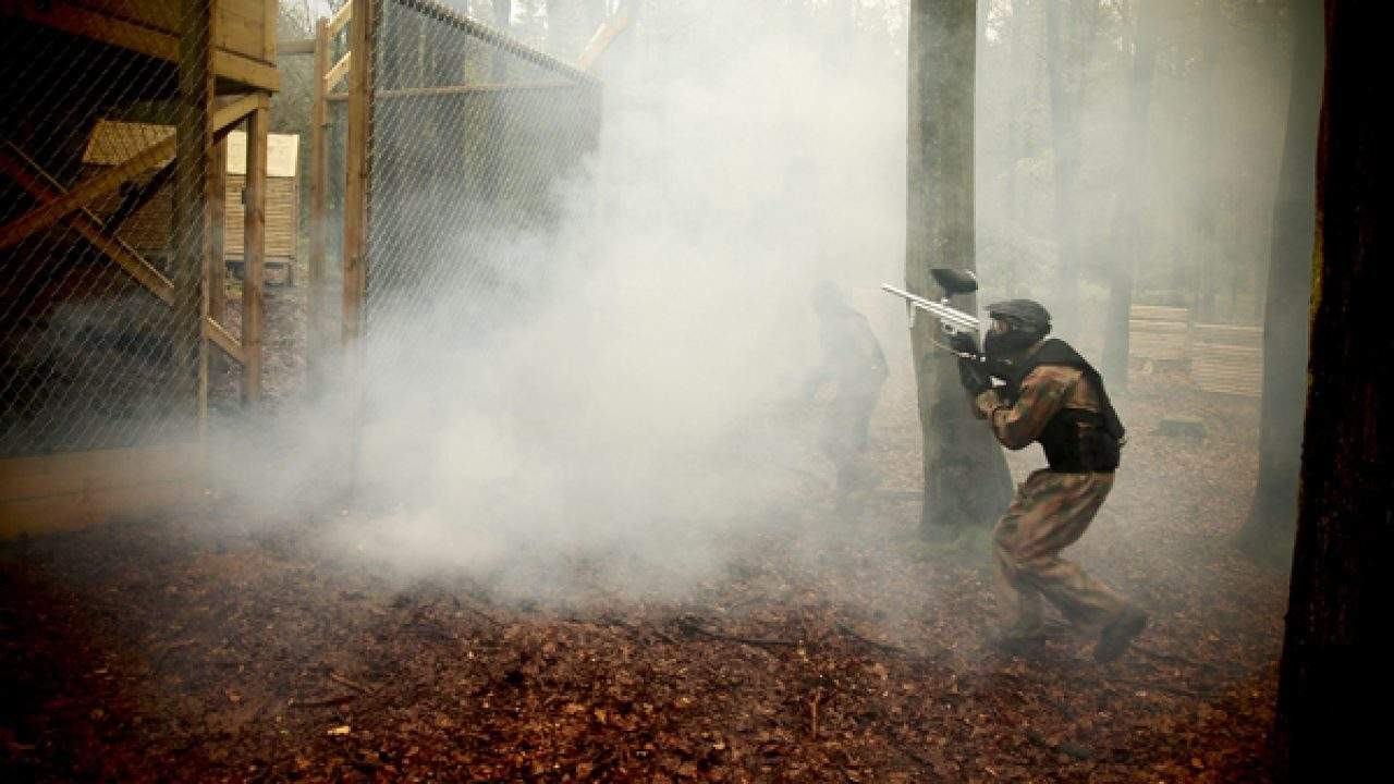 Delta Force Player In Smoke At Vietcong Village