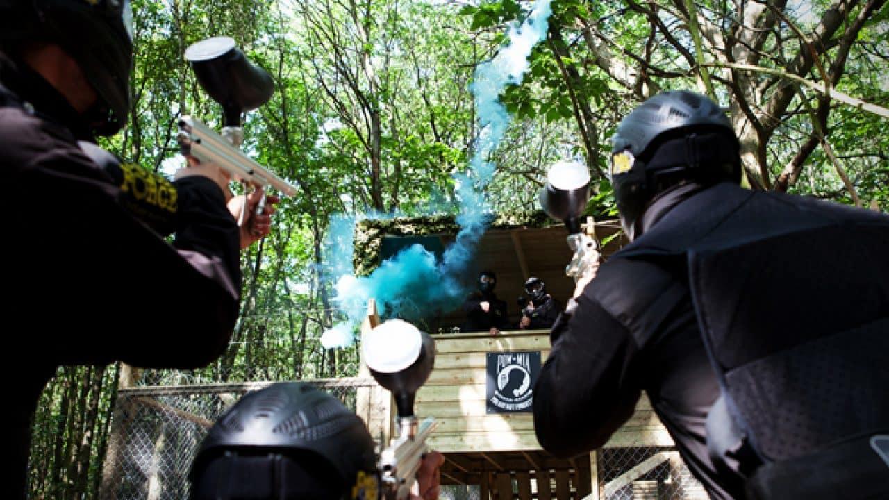 Delta Force Players Throw Smoke Grenades At Vietcong Village