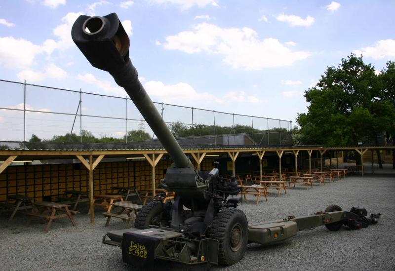Artillery in Essex Paintball Base Camp