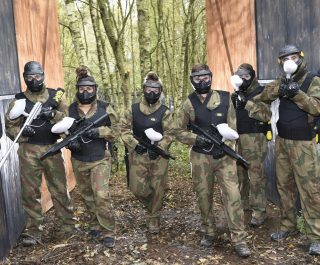 Delta Force Players In Front At Raptor Park Game Zone