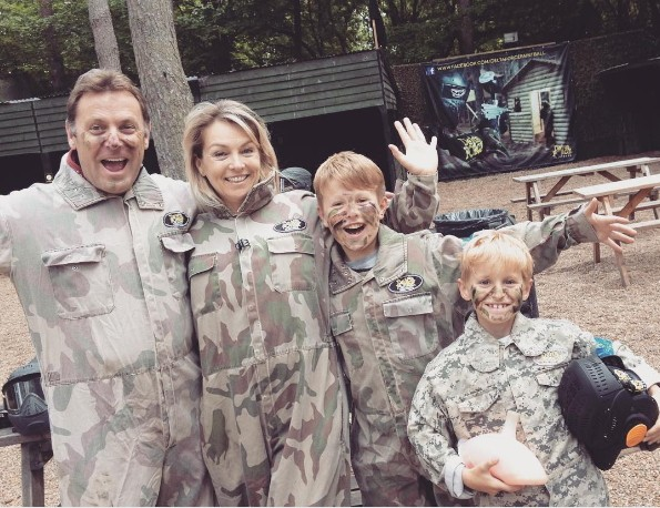 Mother's day family celebrating at Paintball Centre