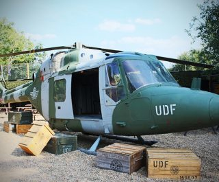 Side Of Military Helcopter At Black Hawk Down Game Zone