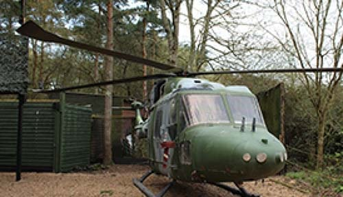 Decommissioned Lynx aircraft at Delta Force