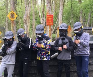 Mini players at Delta Force paintball