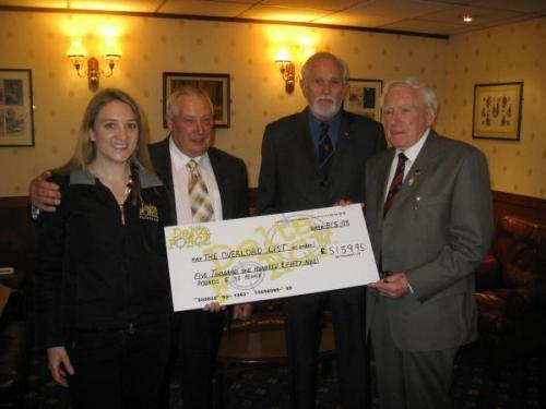 Cheque Being Held Between Delta Force Staff And Veterans