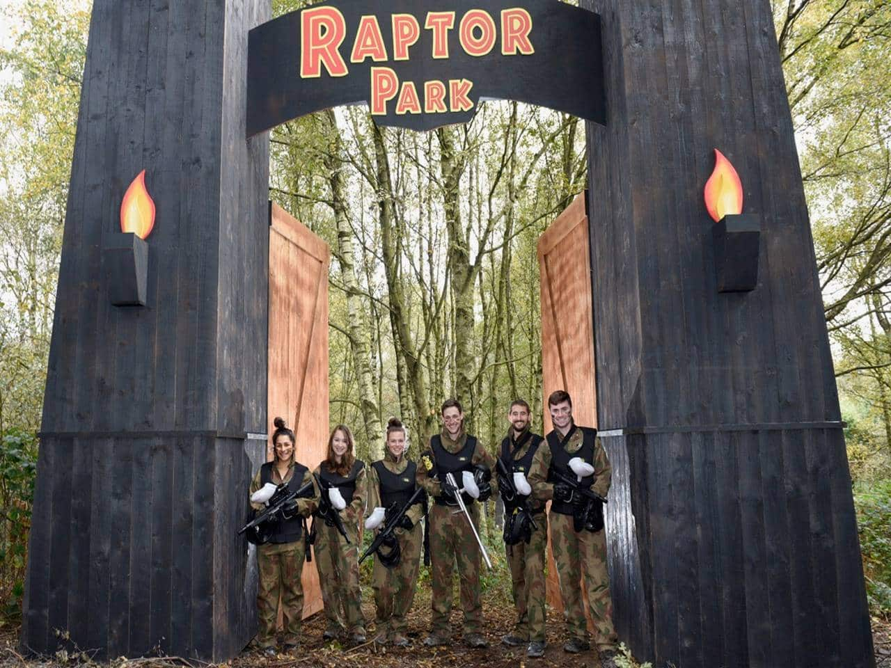 Delta Force Players Stood By Raptor Park Entrance