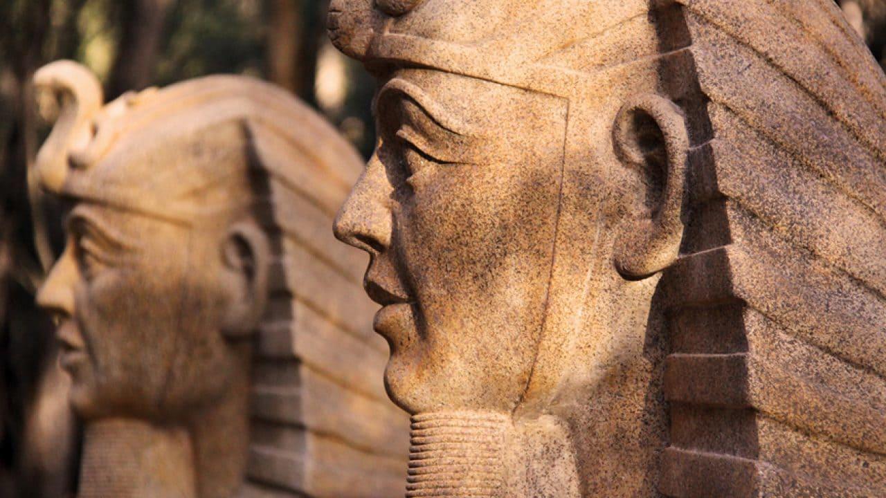Close Up Of Pharaoh At Tomb Raider Game Zone