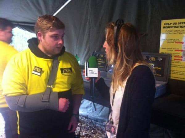 BBC Treasure Quest presenter interviews marshal