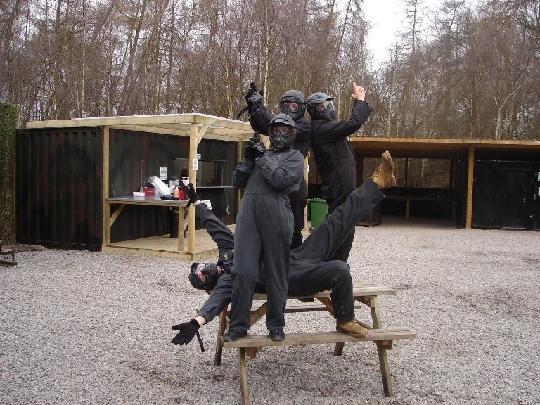 delta force paintball team building