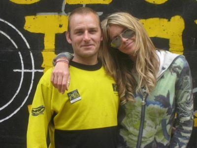 Elle MacPherson with marshal