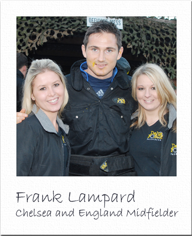 Frank Lampard Paintballing in Cobham