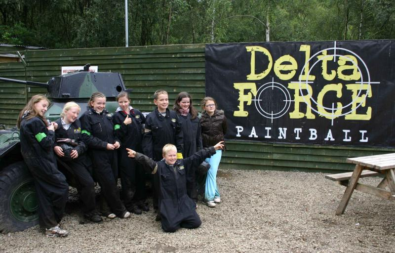 Happy Kids at Paintball Centre Basecamp