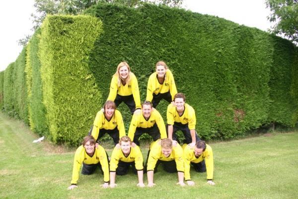 Delta Force Marshalls In A Human Pyramid