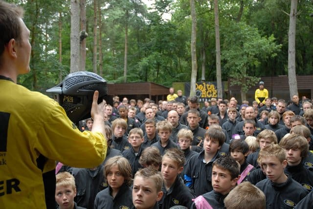Paintball Centre Manager Giving Safety Speech