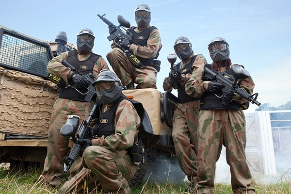 Manchester paintballing game zones at delta force paintball