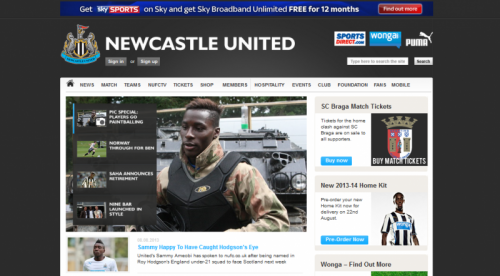 Delta Force on NUFC website