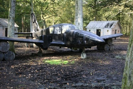 Paintball game zone jet fighter
