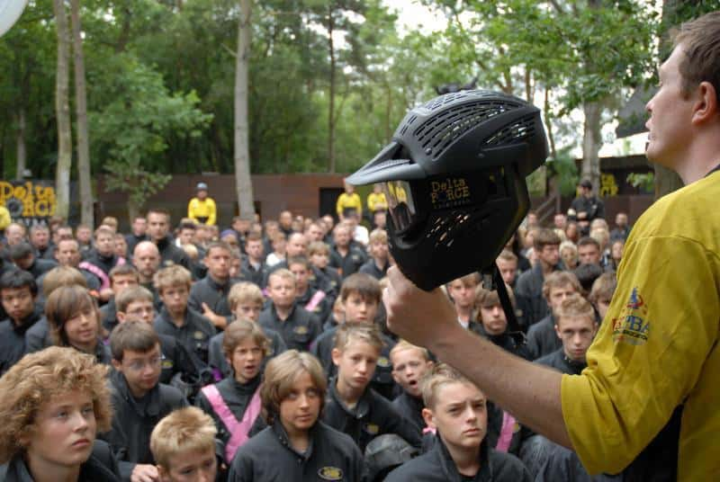 Paintball Centre Safety Demonstration