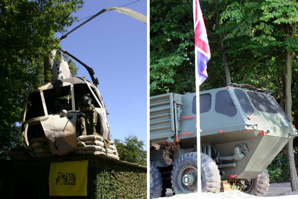 Silent Witness Chopper and Truck at Paintball Cobham