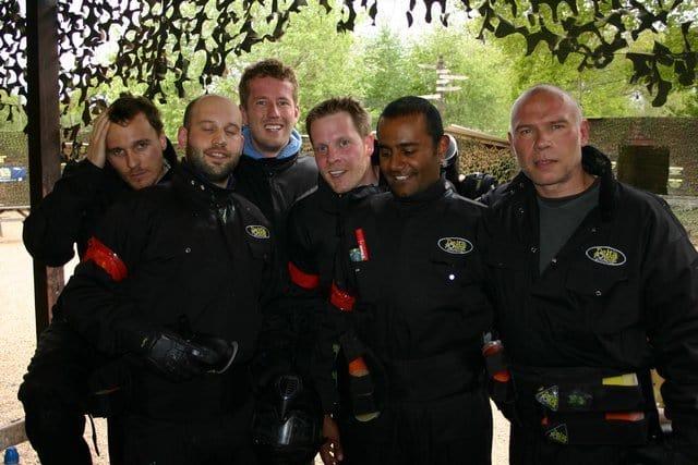 Group of guys at base camp