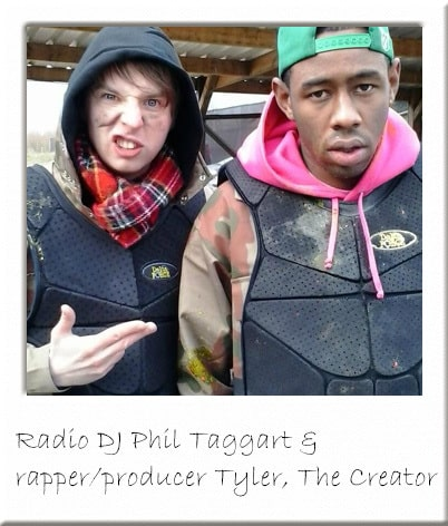 Tyler, The Creator and DJ Phil Taggart Paintballing in Essex