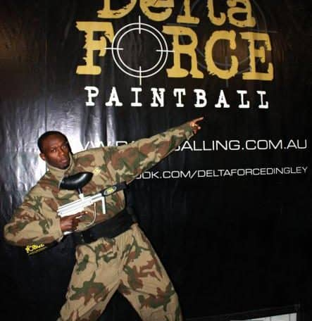 Usain Bolt at Delta Force Paintball